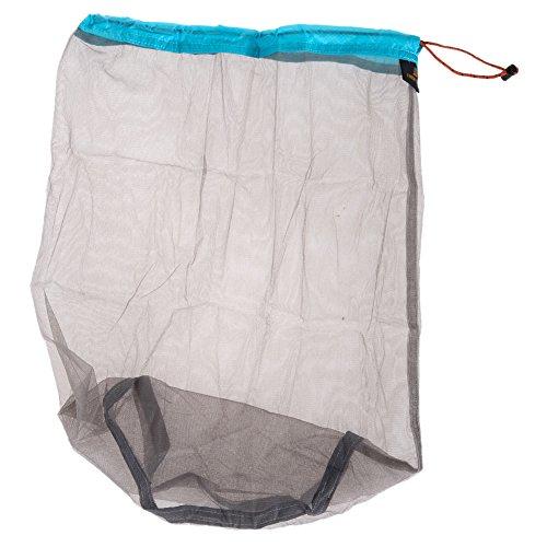 Broadroot extérieur ultra-léger Sac de rangement en maille filet Sac de rangement pour voyage Camping Randonnée Portable bagages Sacs de vêtements, Sky Blue XL