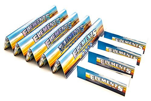 [5 Packs] Elements King Size Slim Rolling Papers with [4 Booklets] of Elements Rolling Tips