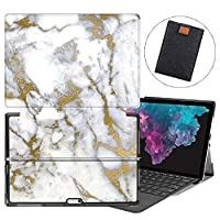 MAITTAO Microsoft Surface Pro 7 case, Folio Smart Stand Strap Case for Surface Pro 7 2019 / Pro LTE 12.3-inch Tablet Sleeve Bag 2 in 1, Compatible with Type Cover Keyboard, Marble 22