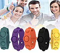 Stress Relief Wristband Fidget Toys, Bracelet Toys, Silicone Bracelet Toy for Kids Adults ADHD ADD Anxiety Autism (5 Pcs)