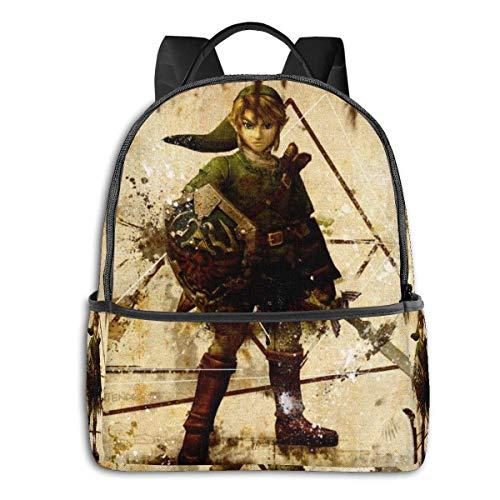 Legend Zelda - Mochila de viaje para ordenador portátil para hombres y mujeres, Busin antirrobo, mochila delgada y duradera, bolsa de ordenador escolar