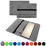 UC-Express Sleeve Hülle für HP Spectre x360 13,3 Zoll Tasche Filz Notebook Cover Etui Case, Farbe:Grau