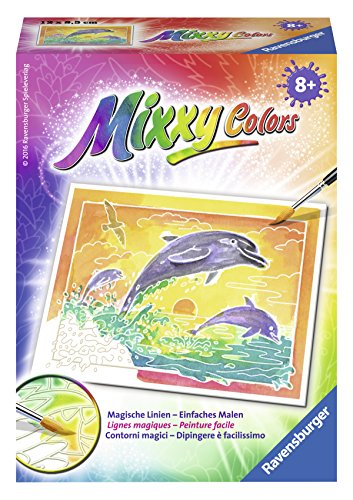 Ravensburger Mixxy Colors 29108 - Spielende Delfine, Malset