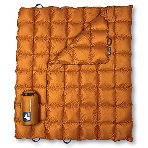 Horizon Hound Down GR-20 Camping Blanket – Outdoor Lightweight Packable Down Cover, Compact & Water Resistant for Camping Hiking Travel – 650 Fill Power