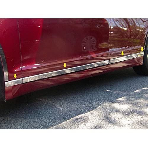 QAA FITS MKZ 2013-2019 LINCOLN (8 Pc: SS Rocker Panel Body Accent