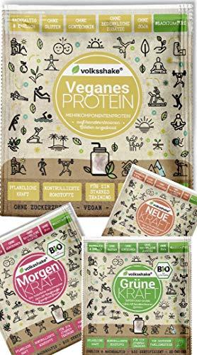 Volksshake Kleinpackungen| Probeset - 14 Sorten - Vegane Proteine - Smoothiepulver