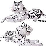 TE-Trend peluche rose amour Peluche Léopard Tigre Panthère modèles tailles - Tigre Blanc 17877