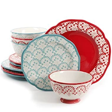 The Pioneer Woman Betsy Mix and Match 12-Piece Dinnerware Set