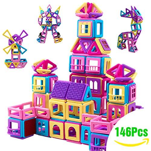 Innoo Tech Upgrade Magnetische Bausteine 146 Teiliger Bausatz Macarons Enthält Riesenrad Büchlein Ideales Spielzeug als Geschenk für Kinder