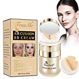BB Air Cushion, BB Cream, CC Cream, All-Day Lasting Nude Makeup Foundation, Even Skin Tone Makeup Base, Easy to Apply, Thin, Moist, for All Skin