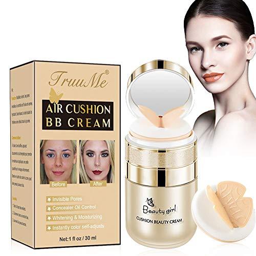 CC Creme, CC Foundation, BB Creme, Flüssige Grundierung, Concealer Lasting Nude Makeup Moisturizing Brightening Pigment Gleichmäßige Hautfarbe CC Liquid Foundation