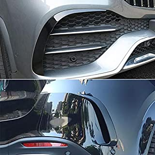Beautost for Mercedes-Benz New GLE 350 450 W167 2020 Front+Rear Side Fender Vent Air Outlet Fog light Bezel Cover Trims Black
