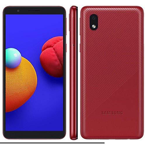 """Smartphone Samsung Galaxy A01 Core 32GB Tela 5.3"""" Camera 8MP Vermelho"""
