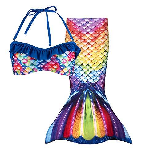 Fin Fun Rainbow Reef Toddler Meerjungfrau Rock + Bikini Mädchen, Jungen, RTL2-TPB4-RRF-5, Regenbogenfarben, für 5- bis 6-Jährige