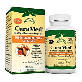 Terry Naturally CuraMed 750 mg - 120 Softgels - Superior Absorption BCM-95 Curcumin Supplement Promotes Healthy Inflammation Response - Non-GMO Gluten-Free Halal - 120 Servings