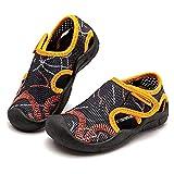 BODATU Quick Dry Closed-Toe Aquatic Sport Sandals Boys Girls Water Shoes Toddler/Little Kid Black Orange Toddler 6.5