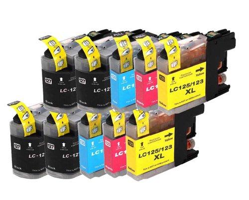 10 kompatible Druckerpatronen für Brother LC123, LC125 LC127, DCP J4110 / MFC J4410 / MFC J4510 / MFC J4610DW / MFC J4710DW (BK,C,Y,M)