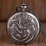 Yqs Reloj de Bolsillo Juego de Tronos Retro Reloj de Bolsillo de...