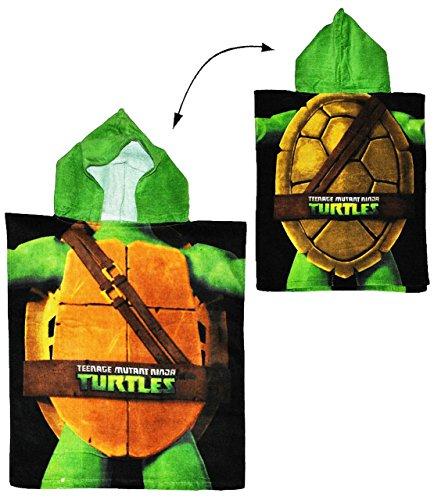 alles-meine.de GmbH Badeponcho - Teenage Mutant Ninja Turtles - 50 cm * 115 cm - 4 bis 8 Jahre Poncho - mit Kapuze - Schildkröten Teenage Mutant Ninja Turtle Jungen für Kinder Ba..
