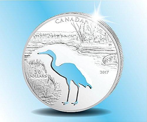 Der Schreikranich   TOUT-Münze   sgestanzte Silhouette des Kranichs   flage nur 5.500 Exemplare   nada   lierte Platte