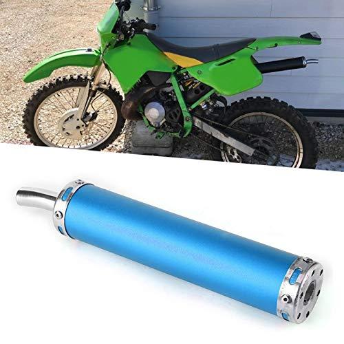 Tubo de escape de motocicleta, silenciador de escape, exquisito acero inoxidable Fabricación de motocicletas Accesorios de motocicletas Reparación de motocicletas para motocicletas de 2(blue)
