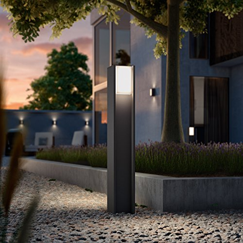 Philips Hue Turaco Led-padverlichting, antraciet, incl. Hue White | Hue-buitenlamp, staande lamp, outdoor