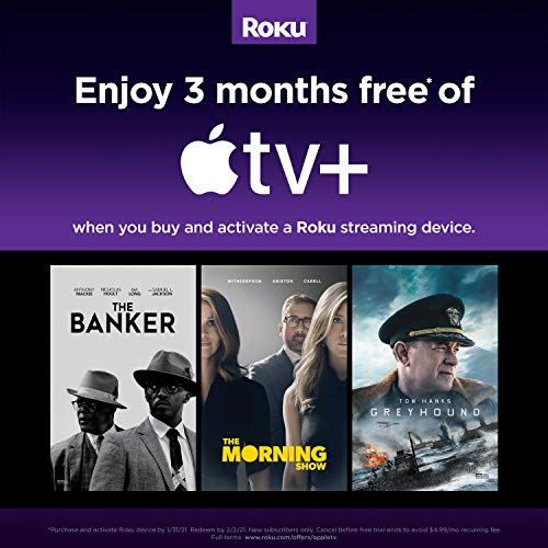 Roku Streaming Stick+   4K/HDR/HD streaming player with 4x the wireless range & voice remote with TV power and volume