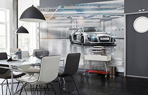 Komar 8-957 Audi R8 Le Mans Sport Bil Tapet Väggmålning, Grå, 368 x 254 cm, Set om 8 delar