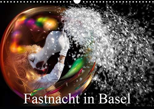 Fastnacht in BaselAT-Version (Wandkalender 2021 DIN A3 quer)