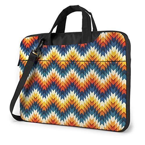 Neoprene Laptop Sleeve Case, Art Tooth Profile Pattern Portable Laptop Bag Business Laptop Shoulder Messenger Bag Protective Bag 15.6 Inch