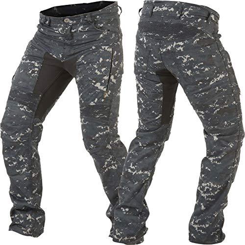 Preisvergleich Produktbild Trilobite Jeans PARADO HERREN Motorrad Hose LANG Digi Camo blau camouflage (30 / 34)