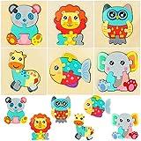 Puzzle in Legno per Bambini, specool 6 pezzi Animal Puzzles per bambini piccoli 1 2 3 anni, Giocattoli educativi per ragazzi e ragazze