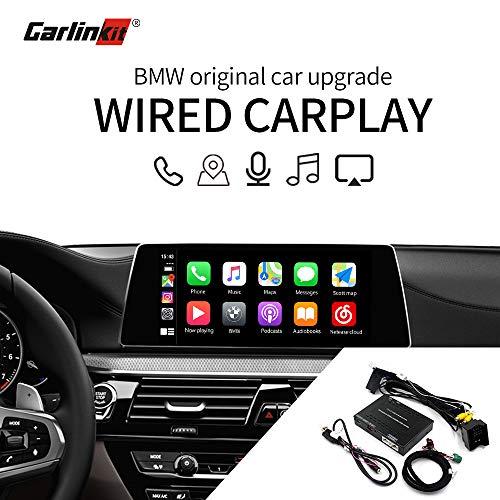 Carlinkit Carplay dongle interfaccia ricevitore per BMW X1 X3 X4 X5 X6 NBT stereo con iOS 13 aggiornamento carplay originale, supporto Google and Waze mappe mirroring Android Auto Siri