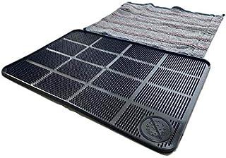 Tapete sanitizante 60 x 40 cm color negro, incluye tapete de tela para secado
