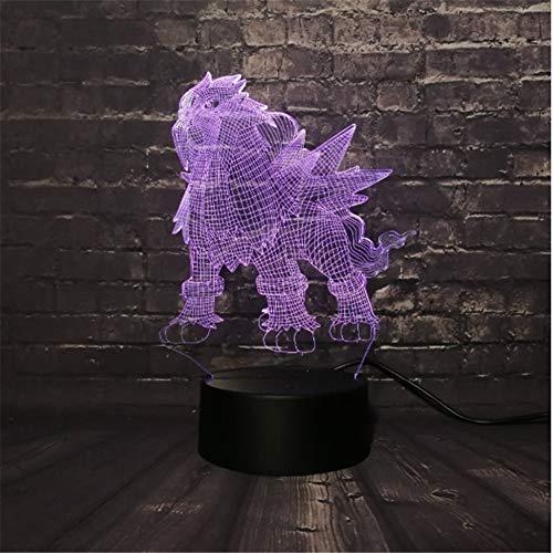 Led Lava Lampe Spiel Pokemon Go Action Figure 3D Rgb Lampe Ball Bay Rolle Nachtlicht