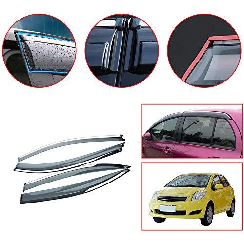 Piaobaige 4Pcs Auto Fenster Visiere Sun Rain Guard Windabweiser für Toyota Yaris Xp90 2008-2013