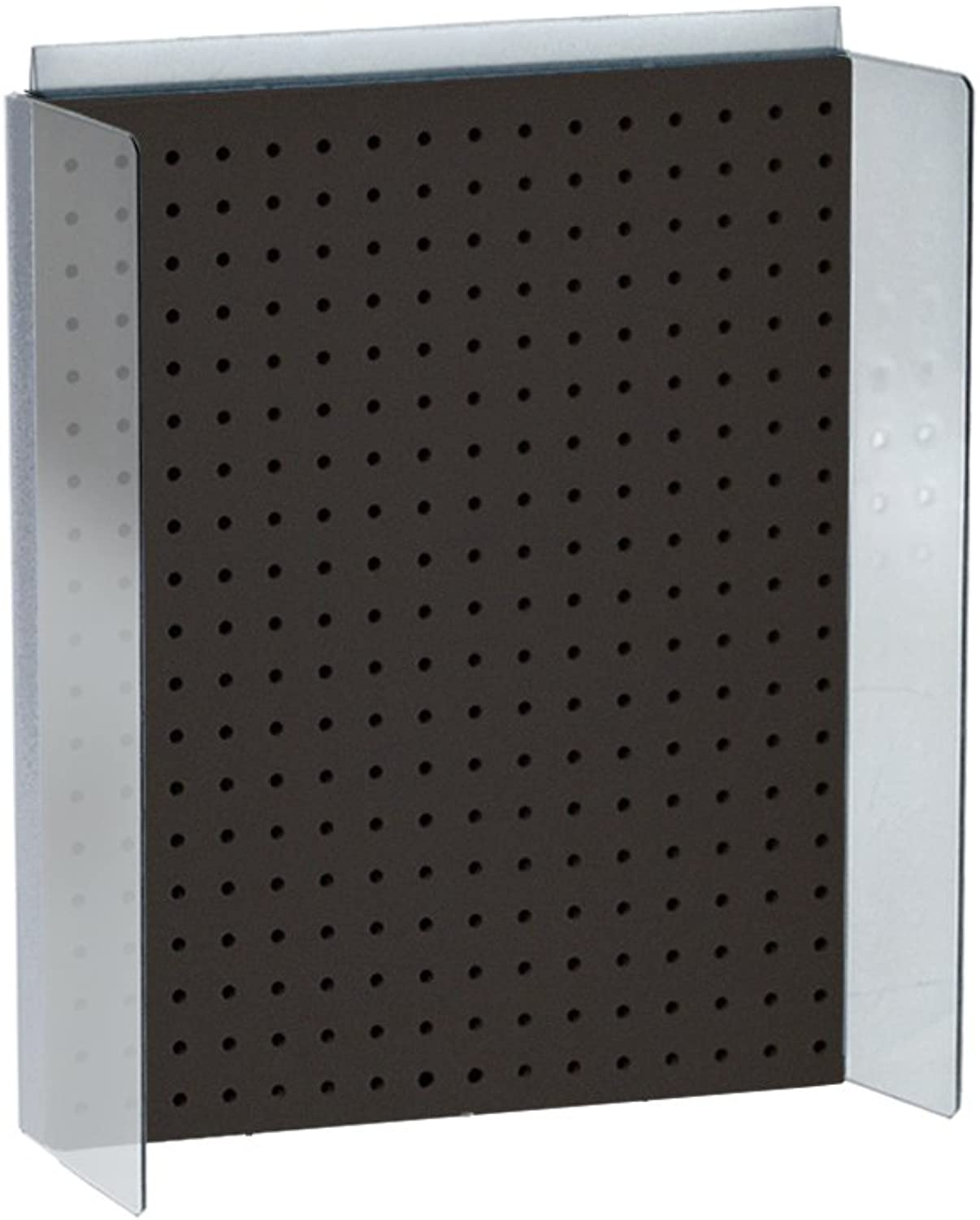 Azar Displays 700357-BLK 16  W x 20.25  H Pegboard Powerwing Display with 3  W Side Wings in Solid Black