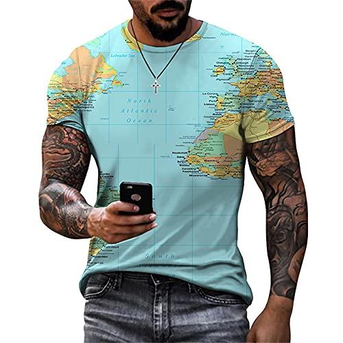 Camiseta Hombre con Impresión Digital 3D Patrón Único Creativo para Hombre Cuello Redondo Manga Corta...