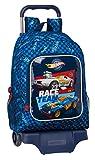 Safta 612138313 Mochila Infantil de Hot Wheels, Modelo 522 con Carro 905, 320x420x140mm, azul