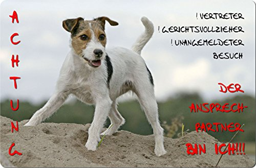 +++ JACK Parson RUSSELL Terrier - Metall WARNSCHILD Schild Hundeschild Sign - JPR 06 T10