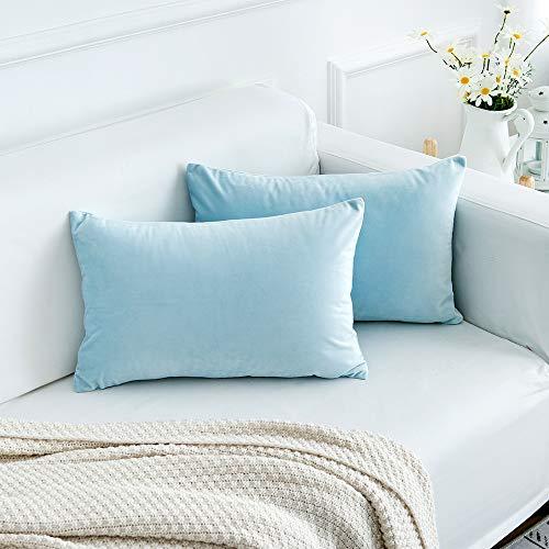light blue couch pillows - 5