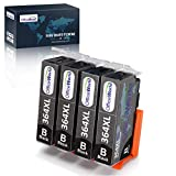 OfficeWorld 364XL Pack de Cartouches d'encre Noir,Substituable à HP 364...