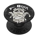 Bam BOO Jeu de mots d'Halloween Drôle de momie panda PopSockets Support et Grip pour Smartphones et Tablettes