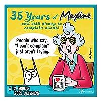 TF PUBLISHING 2021 Maxine ミニ壁掛けカレンダー 35周年を祝う アーティストJohn Wagner イラスト入り ノートページ コンパクトなスペースでの計画/整理 プレミアムマット紙 7インチx7インチ