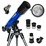 Meade Instruments – Infinity 90mm Aperture, Portable Refracting Astronomy Telescope for Beginners – Multiple Eyepieces & Accessories Included – Fun Space Activities for Kids & Adults – See the Moon