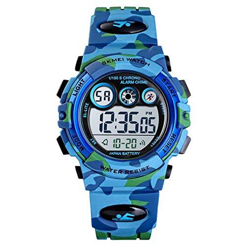 Kinderen kijken XYDBB Kinderen Led Elektronisch Digitaal horloge Stopwatch Klok 2 Tijd Kinderen Sport 50 m Polshorloge Voor Zoals afgebeeld 1 Lichtgroen
