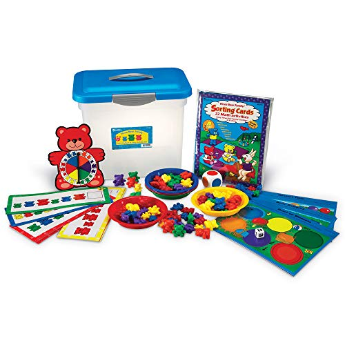 Learning Resources Three Bear Family Sort, Pattern & Play Activity Set, Homeschool Accessory, Counting & Sorting, Ages 3+