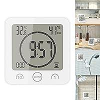 BAMXXIXI デジタル時計 防水 タイマー 温湿度計 お風呂時計 温度計 湿度計 半身浴クロック 壁掛け 卓上置き 粘着可 4色 浴室/バス/洗面所/キッチン/中庭/ルーム シャワー用に適用