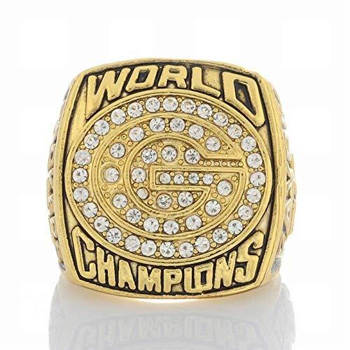 ZJL Sport Fans Ring Collectie meester Rings fans High-end Collection Fans Alloy Ringen Heren Accessoires Vintage Accessoires, Goud, 10 11 goud
