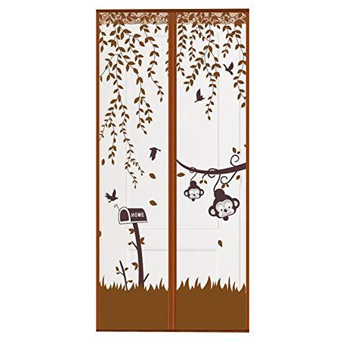 qingqingxiaowu Fliegengitter Tür Insektenschutz Fliegengitter Tür Bildschirm Tür für Anti Pest Tür Jalousien Fly Screen Mesh Bildschirm Tür Brown,90-210cm